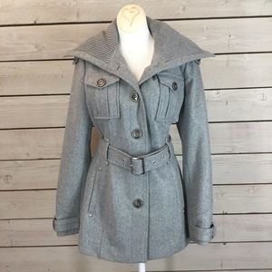 Miss Sixty Grey Pea Coat Size Small